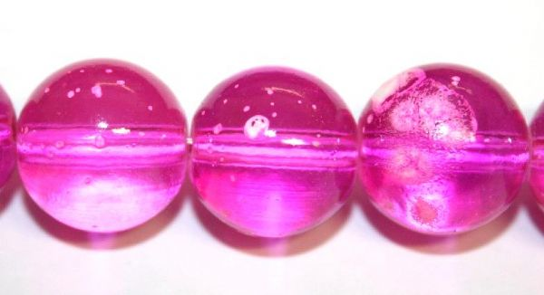 30pieces x 14mm Persian Rose pink colour round shape bubble gum glass beads / speckled glass beads
